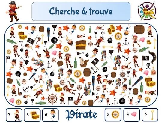Cherche Et Trouve Pirate Un Anniversaire En Or Jeu Enfant Gratuit