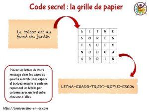 Comment faire un code secret?