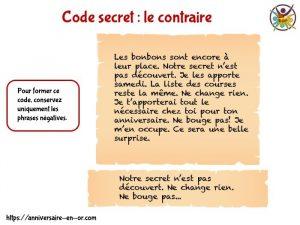 Faire des codes secrets avec les enfants