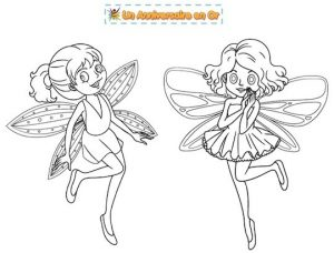 Coloriage de fées à imprimer pour enfant