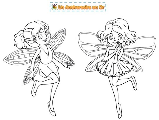 Coloriage de fées à imprimer pour enfants