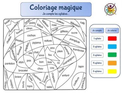 coloriage magique pour enfants pour apprendre les syllabes
