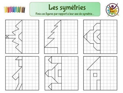 Exercices axe de symétrie à imprimer pour enfants