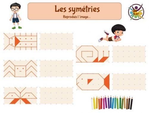 exercice symétrie pour enfant