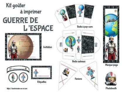 Kit de décoration anniversaire à imprimer thème Star Wars