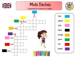 Mots fléchés pour apprendre l'anglais aux enfants