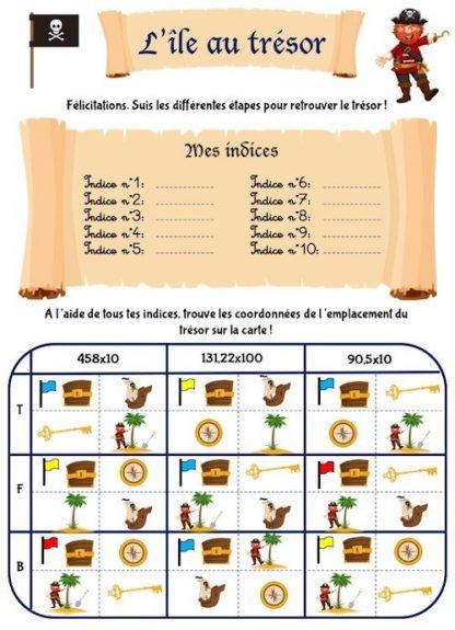 Cahier de jeux et activités enfants avec chasse au trésor