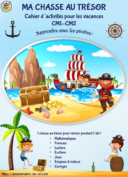 Cahier de vacances à imprimer pour enfants de CM1 CM2