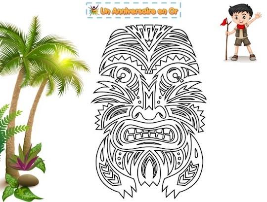 coloriage à imprimer Koh-Lanta