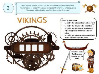 Enigme pour jeu de chasse au trésor Viking