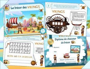 Kit de chasse au trésor pour organiser un anniversaire Viking