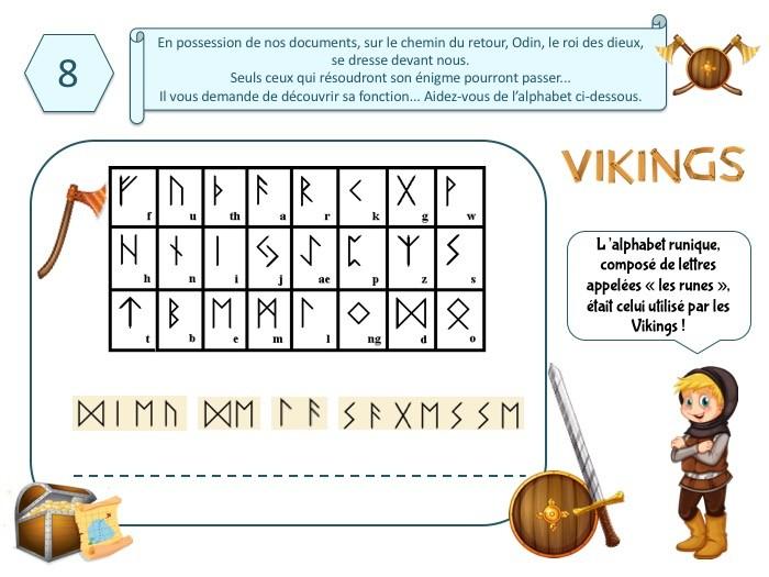 Chasse au trésor Viking pour enfant de 8-9 ans
