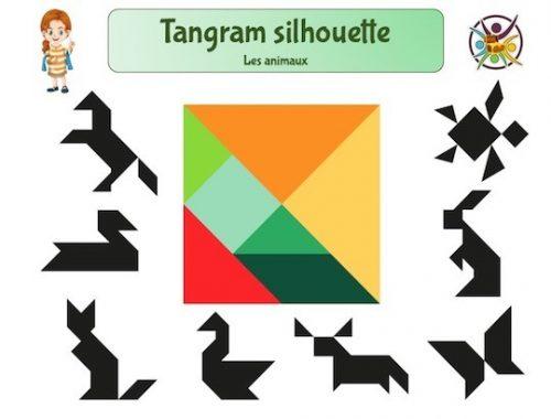 Modèles de silhouettes d'animaux pour tangram