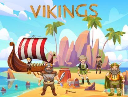 Chasse au trésor 6-7 ans pour anniversaire Viking