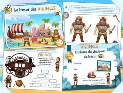 Jeu anniversaire enfant thème Viking à imprimer, 6-7 ans