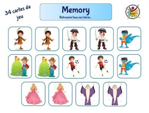 Jeu de memory à imprimer pour enfant