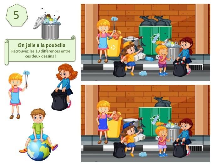 Kit de jeu à imprimer pour enfant sur l'écologie, l'environnement et la biodiversité.