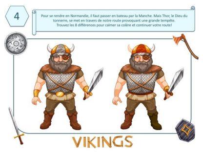 Jeu des différences, énigme pour anniversaire Viking