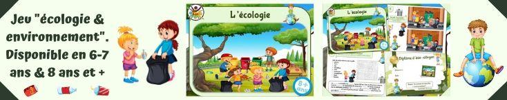 Jeux et activités enfant sur le thème de l'écologie à imprimer