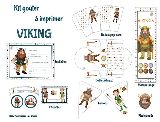 Kit de décoration enfant pour anniversaire Viking