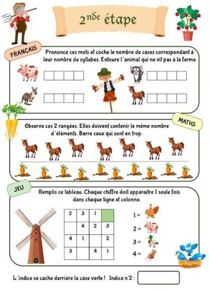 Cahier de vacances et de jeux pour enfants de maternelle