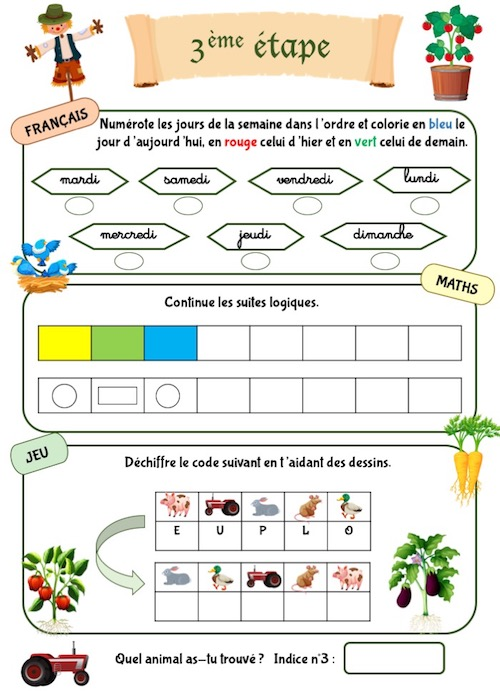 Cahier de vacances: activités et jeux pour enfants de maternelle
