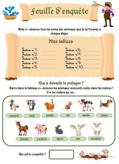 Cahier de vacances: apprends en menant l'enquête à la ferme