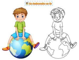 Coloriage enfant sur l'environnement et la planète