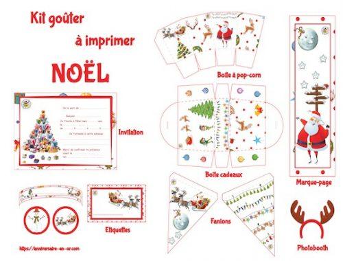 Décoration à imprimer pour Noël