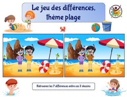 Jeu gratuit des différences à imprimer pour enfants