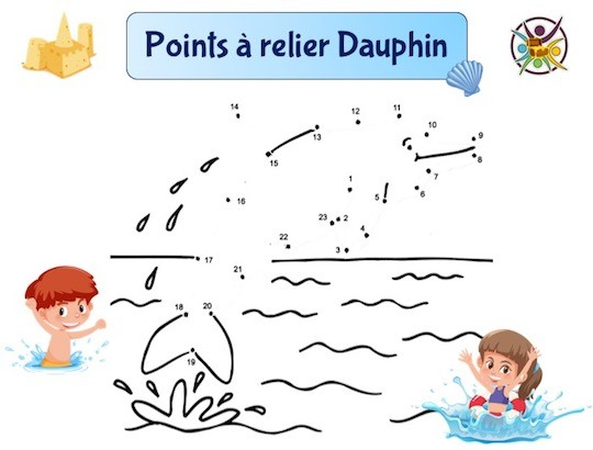 Points à relier dauphin
