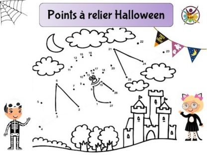 points à relier Halloween