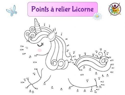 points à relier licorne