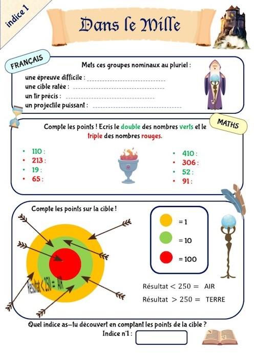 Cahier de jeux éducatif pour les vacances CE1-CE2