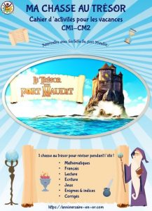 Cahier de vacances, révision scolaire pour enfants de primaire