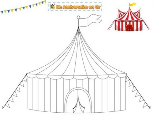 coloriage de chapiteau de cirque