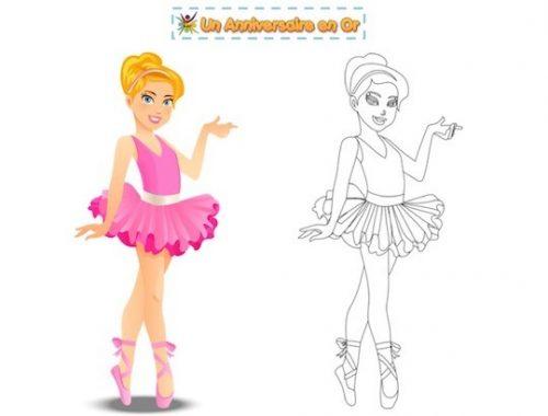 coloriage enfant thème danse, ballerine
