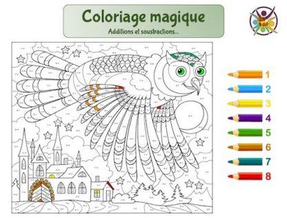 coloriage magique mathématiques: additions et soustractions