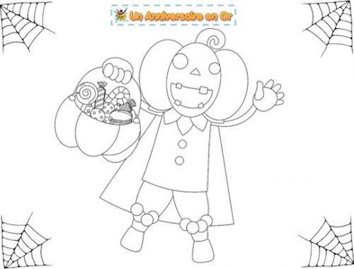 Coloriage enfant à imprimer thème Halloween
