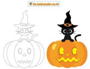 Coloriage enfant de citrouille pour Halloween