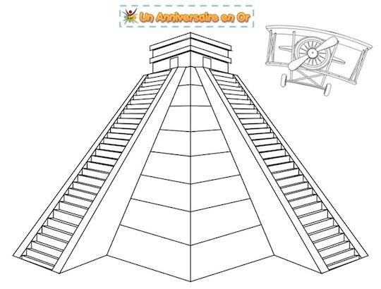 coloriage temple inca
