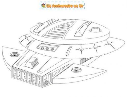 Coloriage vaisseau spatial