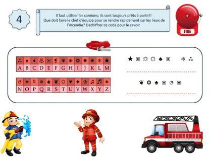 énigme enfant pour jeu d'enquête thème pompier