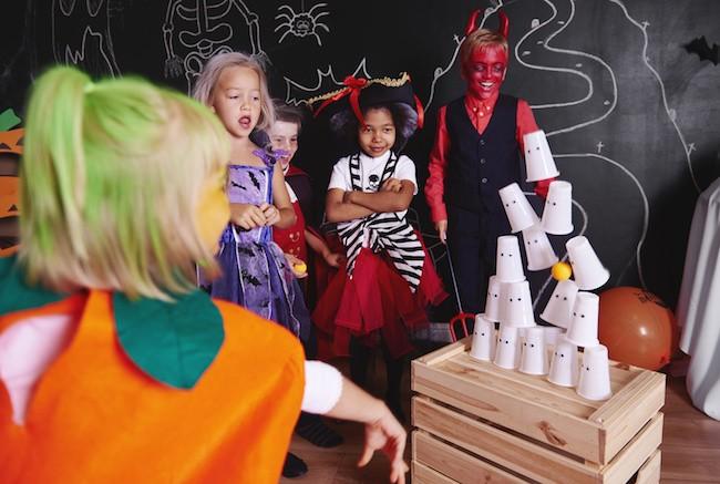 le chamboule-tout d'Halloween