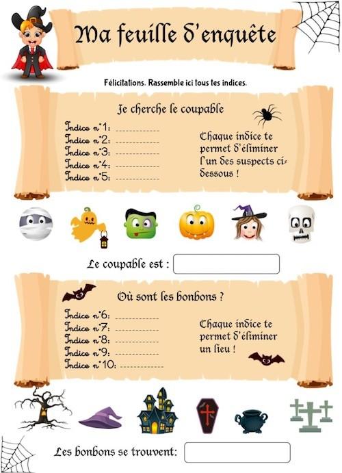 Réviser en menant une enquête avec un cahier de jeux sur Halloween