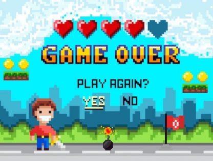 Escape game pour anniversaire enfant, thème jeu vidéo