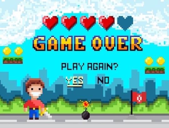 escape game où l'enfant est prisonnier du jeu vidéo