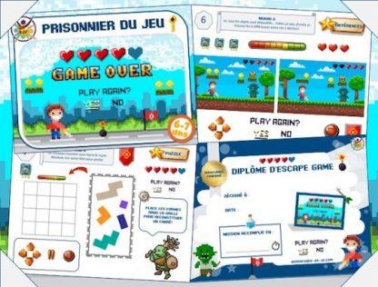 jeu anniversaire escape game : prisonnier du jeu