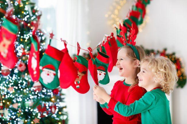 idées de jeux enfant pour Noël: la chaussette de Noël