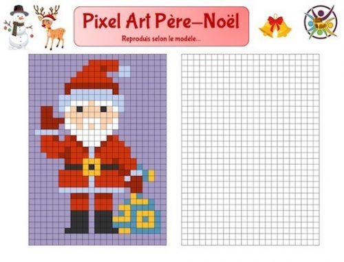Pixel art Noël: reproduis le Père-Noël